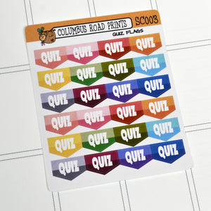 [SC003] Quiz Flags, School Quiz stickers, test markers, flags