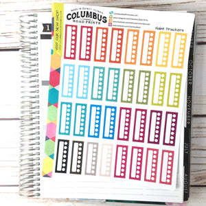 "Habit Tracker ""Multicolor Focus"", planner stickers fit Erin Condren Vertical Life Planner, Habit trackers, Multicolor Planner Sticker"