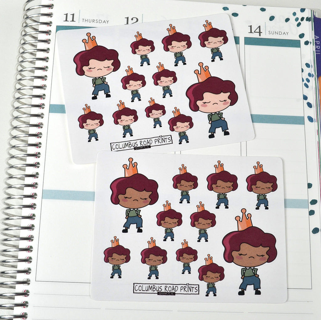 Princess, Super Sassy Planner Girl with attitude - ColumbusRoadPrints