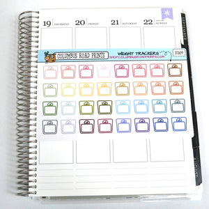 [IC009] Weight trackers, weigh-in planner stickers, scales - ColumbusRoadPrints