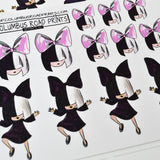 "Dancing Girl, ""SIA"", celebrity girl, Planner girl stickers, emotis, traveler's notebook, fauxdori, fits most planners"