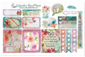 "BOHO CHIC FITS EC, ""So Bohemian"" Planner Stickers, fits Erin Condren Vertical Life Planner, fits ECLP, Stickers, Romantic Floral Bohemian"