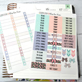 VERTICAL -- Bless Our Home -- weekly kit or a la carte, Farmhouse weekly kit fits EC Lifeplanner, Vertical Planner Sticker Kit