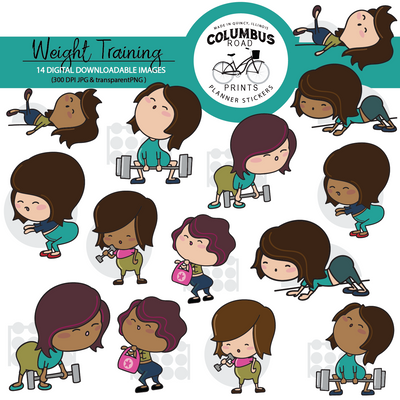 Printable Weight Lifting Clipart,
