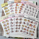 DECO -- Chocolate Milk & cookies -- DA55 Planner Stickers