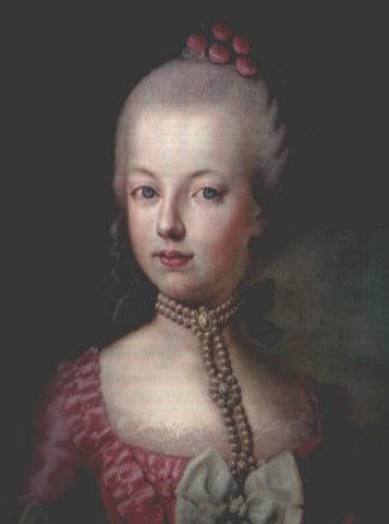 Marie Antoinette with head and choker