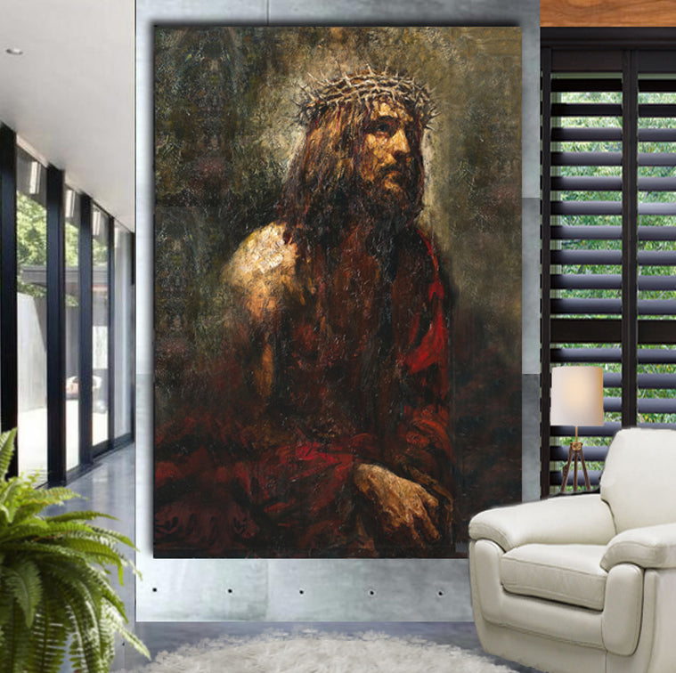 Ecce Homo Duo Wrapped Canvas by Anatoly Shumkin 2013 - Ballooo