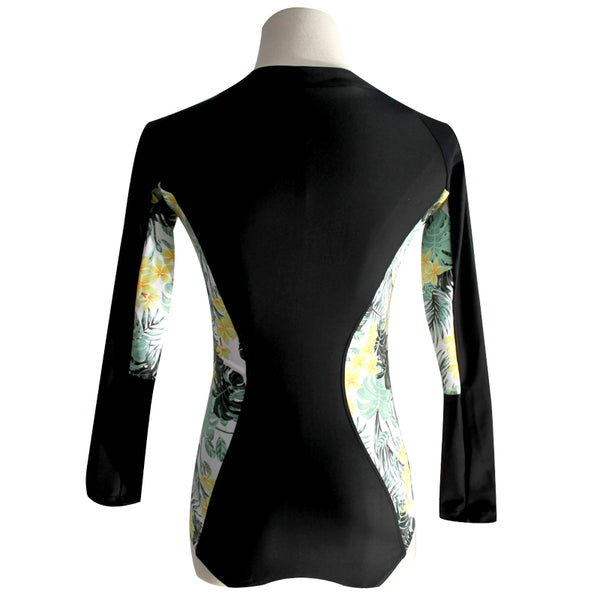 Banana Split - One Piece Long Sleeve Rashguard, Bathing, Surfing Swimsuit - Ballooo