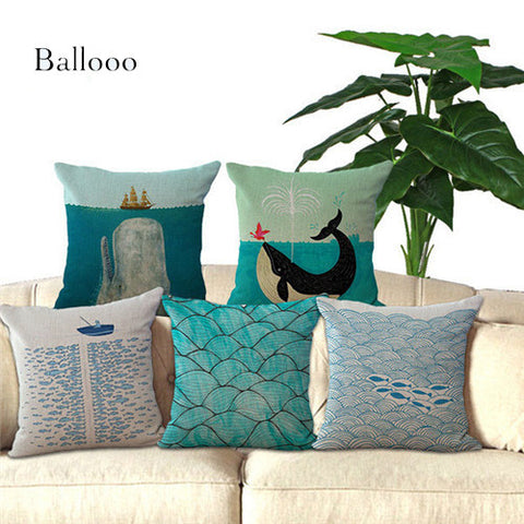 Vintage Ocean Themed Cushion Covers