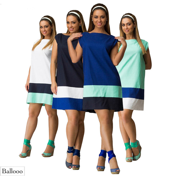 Ladies Plus Size L to 5XL Mini Dress - Ballooo