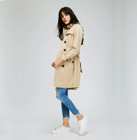 Nikita - Double Breasted Water Resistant Trench Coat - Ballooo