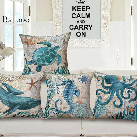 Underwater Themed Cushioned Covers