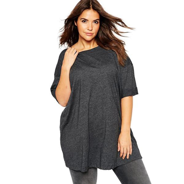 Ladies Plus Size Cowl Neck T-Shirt - Ballooo
