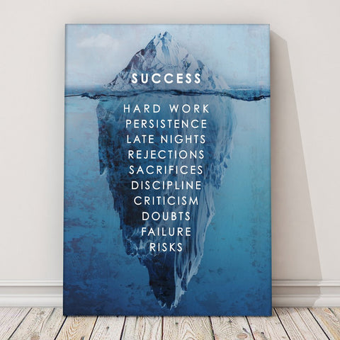 Success Iceberg Canvas Print