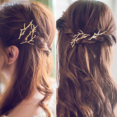 Gold and Silver Coloured Twig Hair Clip Ornament - Ballooo
