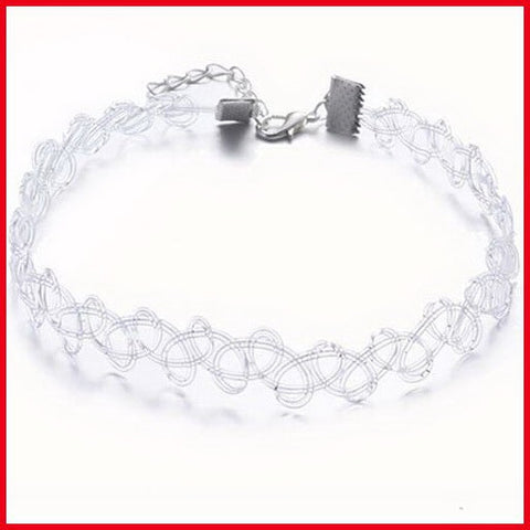 Clear choker with lobster clasp - Ballooo
