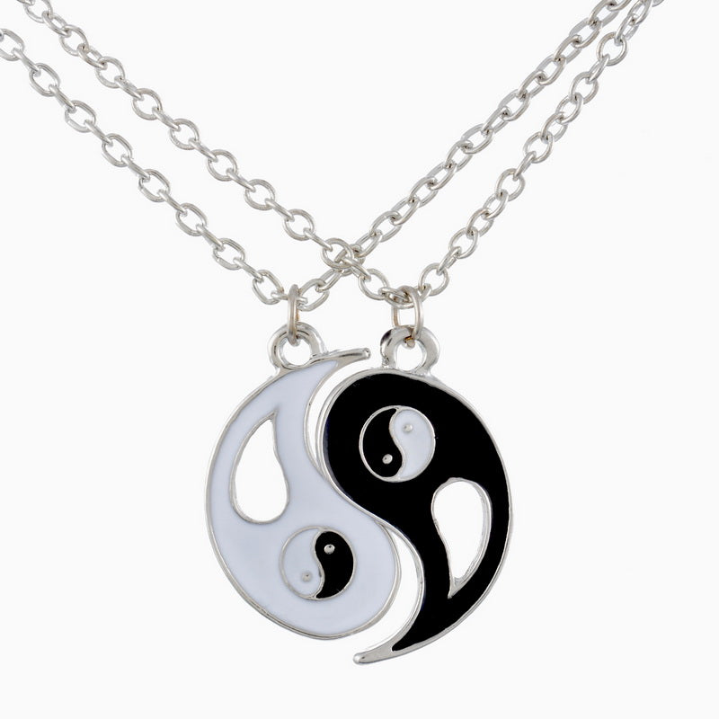 Two Hearts Beat as One Yin Yang Pendant Necklace - Ballooo
