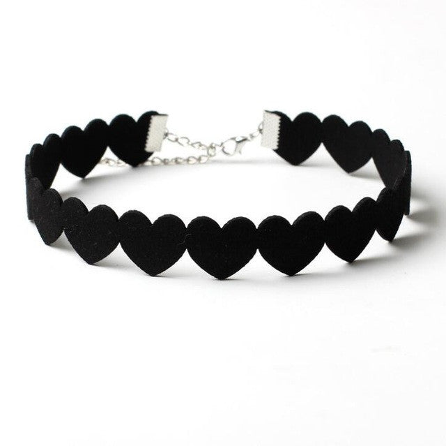 Love Me Do Black Velvet Choker - Ballooo
