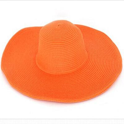Large brimmed, straw style, floppy sun hat. - Ballooo