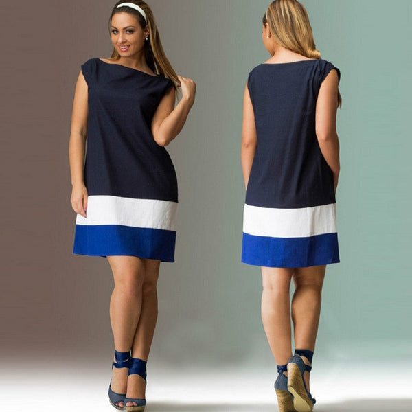 Ladies Plus Size L to 5XL Mini Dress