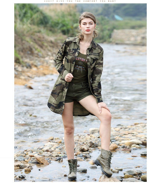 Britt - Ladies Camouflage Coat - Ballooo