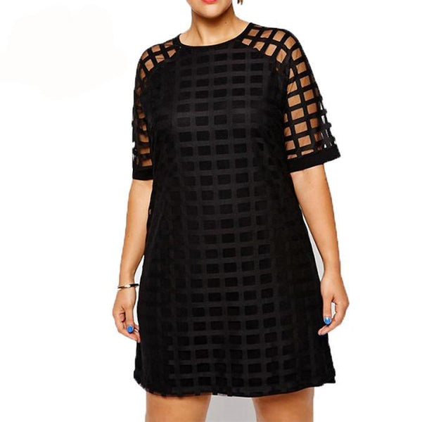 Ladies Plus Size Mini Cage Dress to Size 5XL and 6XL - Ballooo