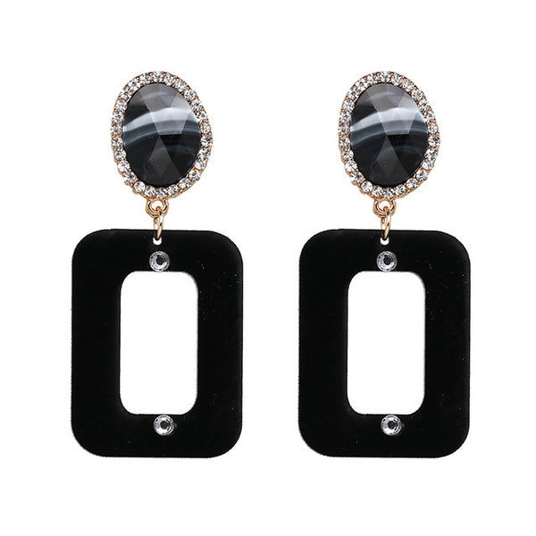 Large Oblong Statement Earrings - Ballooo