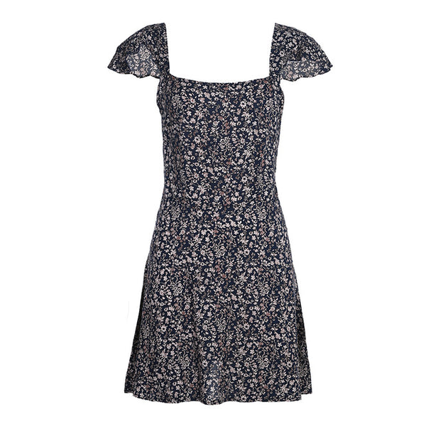 Amelia - Short floral print boho summer dress - Ballooo