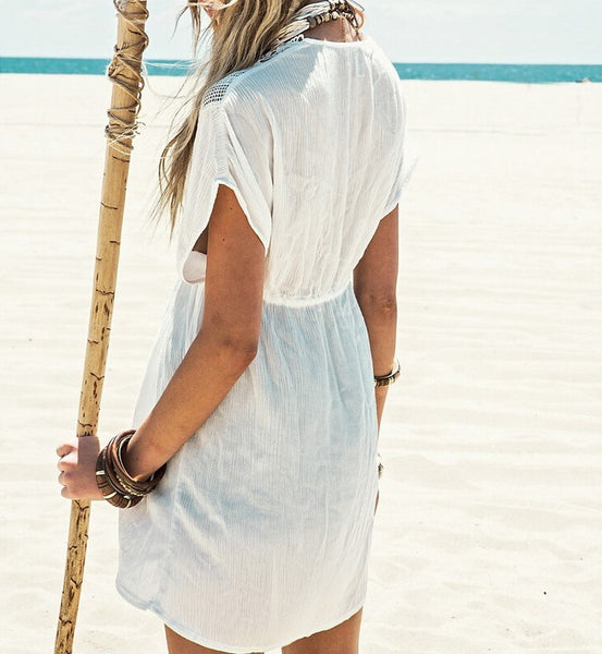 Beth -  Lace Beach Cover-Up - Ballooo
