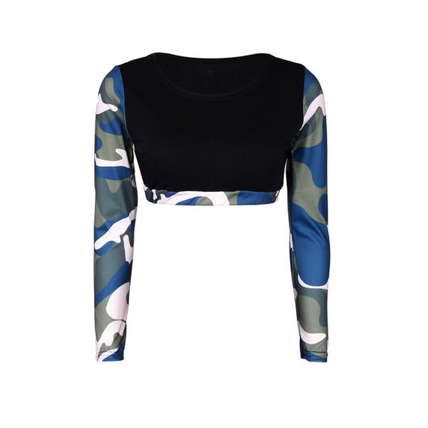 Jemima Camo Activewear Separates Crop Top and Leggings