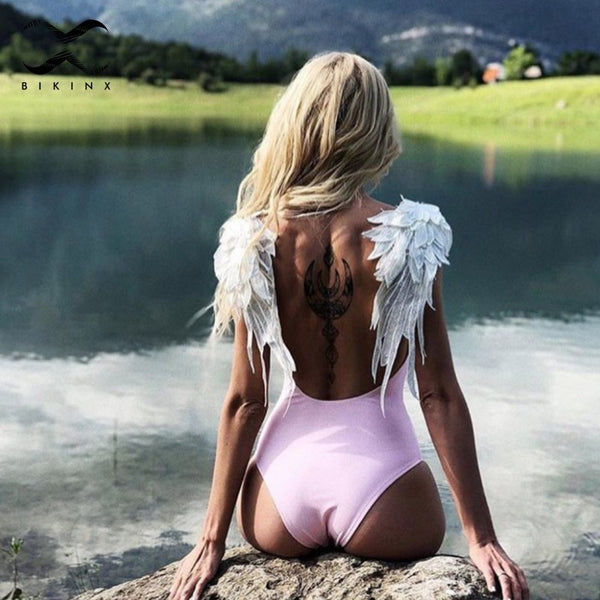 Swan - One Piece Winged Swimsuit