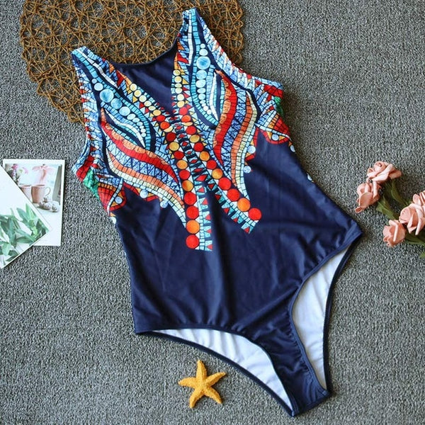 Floral Printed one Piece Swimsuit