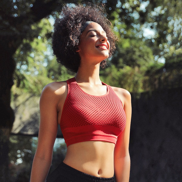 Shockproof Breathable Mesh Sportsbra