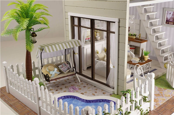 DIY Miniature - Paris Apartment Wooden Doll House Kit - Ballooo