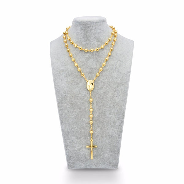 Golden Guadalupe Rosary Beads - Ballooo