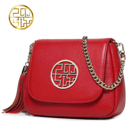 2016  Genuine Leather Chinese Style Shoulder Bag $51.05 US plus shipping - Ballooo