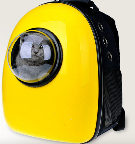 Outer Space Bubble Pet Capsule Backpack  - Breathable - Go where no pet has gone before. - Ballooo