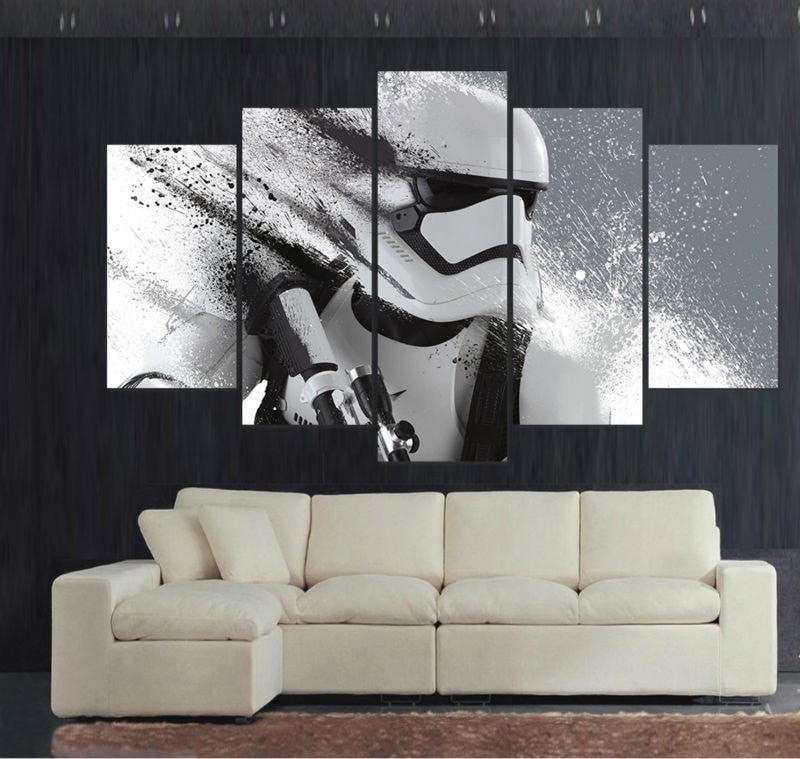 Beautiful ... 5 Panel Large HD Printed Stormtrooper Star Wars Canvas Art Home Decor Wall  Art ...