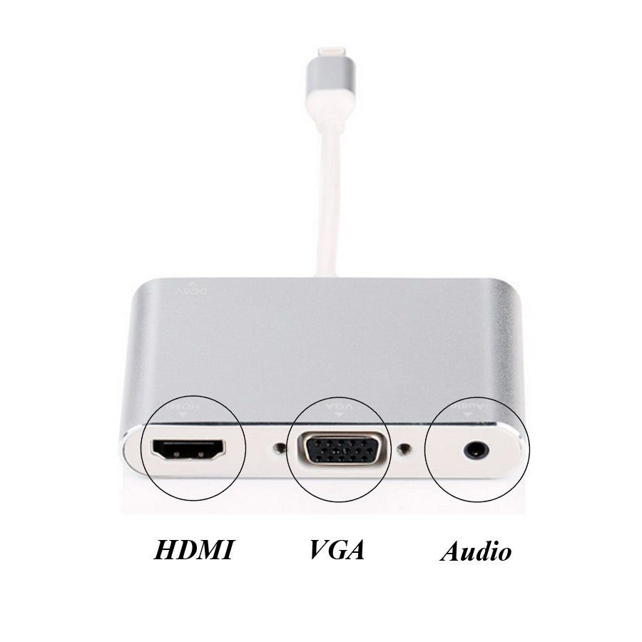 iphone to hdmi adapter. lightning to hdmi vga audio adapter alloy aluminium iphone tv projector converter c