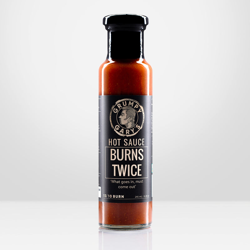 Burns Twice Hot Sauce 13/10 BURN