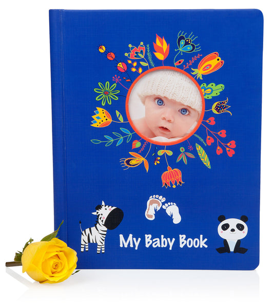 Lola Cheng 3-IN-1 Baby Book Gift Set with Baby Ink Pad Kit - Best Baby Shower Gifts