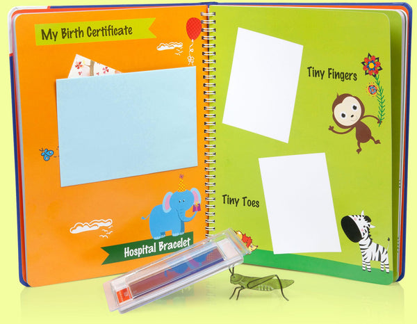 Lola Cheng Baby Memory Book with Clean-touch Ink Pad Kit - Adorable Unique Baby Gifts