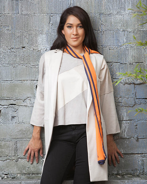 Lola Cheng Mulberry Silk Scarf - Orange - Best Gifts for Her