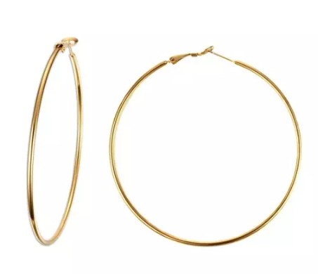 70mm Gold ip Stainless Steel Hoop