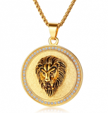 Stainless Steel Lion Necklace