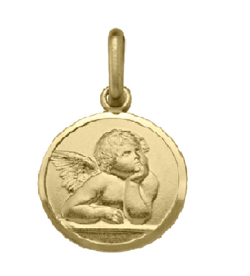 Yellogold Angel Pendant