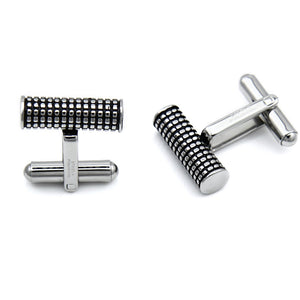 Stainless Steel Cylinder Design Cufflinks