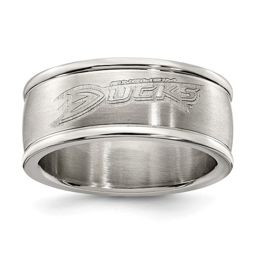 Anaheim Ducks Stainless Steel Ring