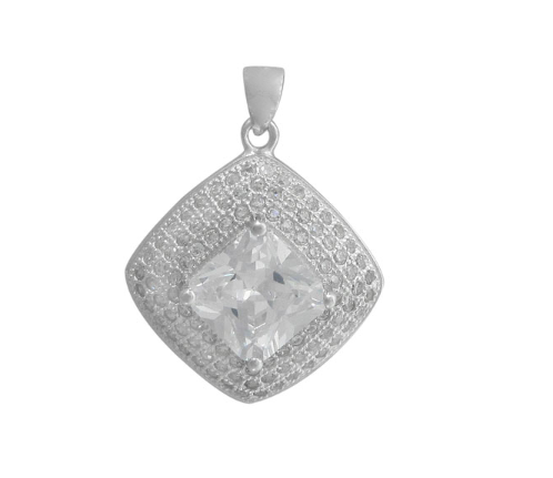 CZ Diamond Shape Pendants