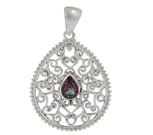 Sterling Silver Mystic Topaz Pendant